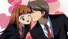Itazura na kiss - I loved how nice their relationship developed through out the show, and how it showed that getting married doesn't mean a flawless and happy ever after life. Both Aihara and Irie were adorable, really cute couple. Itazura Na Kiss, Anime Neko, Anime Art, Anime Couples, Cute Couples, Baek Seung Jo, Kiss Me Love, Kiss Day, Kamisama Kiss
