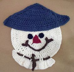 #308 Scarecrow Crochet Dishcloth – Maggie Weldon Maggies Crochet