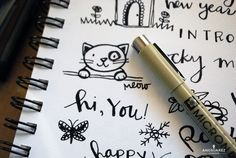 Doodle Days | 365 Art Challenge | AngSuarez Creative Zen Doodle, Doodle Art, Doodle Drawings, Cartoon Drawings, Bujo Doodles, Doodles Zentangles, Art Challenge, Bullet Journals, Ink Art