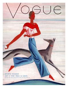 Vogue Cover - July 1930 Poster Print by Eduardo Garcia Benito at the Condé Nast Collection