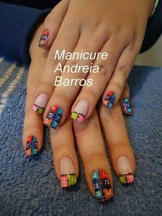 Brito Más Nail Tip Designs, Toe Designs, Colorful Nail Designs, Hot Nails, Hair And Nails, Nail Polish Style, Diva Nails, Easter Nails, Toe Nail Art
