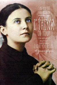 St. Gemma Galgani reminds us that God is always present in our lives and He shares our joys and sorrows.