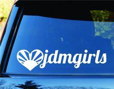 JDM Girls Car Truck Window Windshield Lettering Decal Sticker