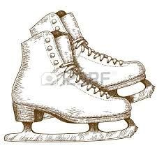 Image Result For Cartoon Ice Skate Drawing Vintage Ice Skating Ice Skating Skate Tattoo
