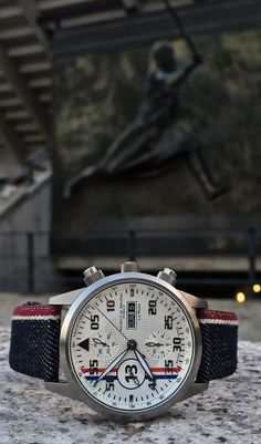 Maurice de Mauriac Chronograph Modern, Le Mans Racing watch. Swiss luxury watches for men and women.
