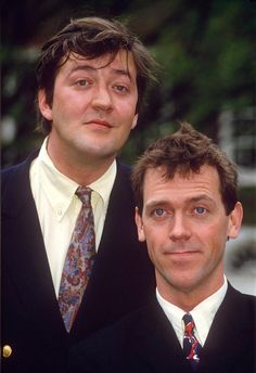 Stephen Fry, Hugh Laurie in Jeeves and Wooster…quirky comedy about rich man and his devoted butler.