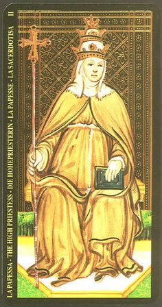 The High Priestess from the Visconti Tarot