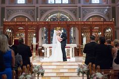 Bride and Groom Just Married First Kiss | Cathedral-of-the-blessed-sacrament-wedding-sacramento-california-photographer-elks-tower