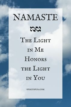 Namaste - The light in me honors the light in you | yoga journal writing prompts from Liz Lear at Spiritspur.com | Free Cultivate Contentment journal prompts