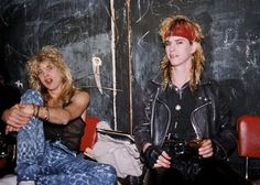 Steven Adler and Duff McKagan