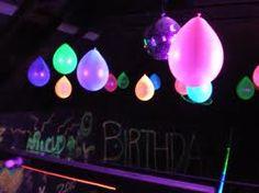 Neon Balloons...glow sticks inside.