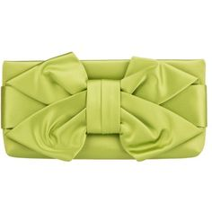Valentino Bow Clutch Green in green, Evening Bags (€390) ❤ liked on Polyvore featuring bags, handbags, clutches, green, valentino purses, green handbags, leather purses, man bag and leather hand bags