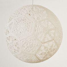 crocheted hexigon (32) lamp shade