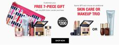 Estee Lauder gift with purchase - 7 pcs with $35 purchase + select items 50% off