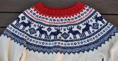 Risultati immagini per tradisjonell genser Free Chunky Knitting Patterns, Knitting For Kids, Knitting Designs, Free Knitting, Knitted Christmas Jumpers, Christmas Knitting, Knitting Increase, Honeycomb Stitch, Fair Isle Knitting