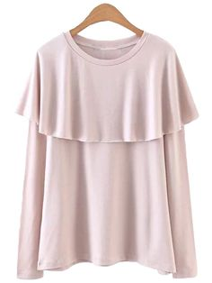 'Loreen' Pink Ruffle Layered Top Spring 2017 Collection of Top New Arrivals www.goodnightmacaroon.co