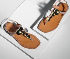 Bottega Veneta Mud Multispheres Calf Sandal