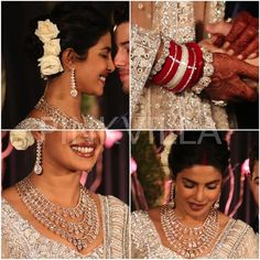 Priyanka Chopra Nick Jonas Reception : Priyanka stuns in a Falguni and Shane Peacock lehenga Royal Indian Wedding, Indian Wedding Jewelry, Bridal Jewelry, Indian Weddings, Indian Jewelry, Gold Jewelry, Designer Bridal Lehenga, Nick Jonas, Priyanka Chopra Wedding