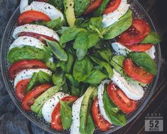 Kesäsalaatti avokadolla - 52 Weeks of Deliciousness Caprese Salad, Salads, 52 Weeks, Food, Essen, Meals, Yemek, Salad, Insalata Caprese