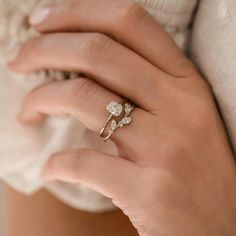 By the Bushel Ring in Diamond – Melanie Casey Unique Wedding Bands, Wedding Sets, Wedding Rings, Necklace Chain Lengths, Necklace Sizes, Just In Case, Just For You, Dream Engagement Rings, Cushion Cut Diamonds