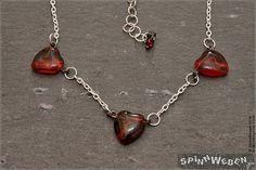Neu Valentinstag Herzperlenkette  Czech Glass Herzperlen