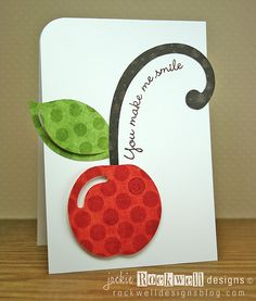 You make me smile. I love how it over-hangs off the card