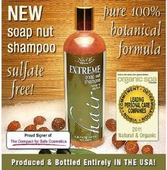 NaturOli Soap Nuts Natural Shampoo- This shampoo sounds so amazing! -USDA Organic Certified -Fragrance free. Vegan. 100% botanical, chemical-free conditioning shampoo.  -Contains no parabens, propylene, butylene glycols, petroleum, sulfates, alcohol, PEGs, TEA, DEA, NPE, phthalates, GMO, silicones, pesticides, artificial dyes or fragrances. Contains no animal products & not tested on animals. WOW!