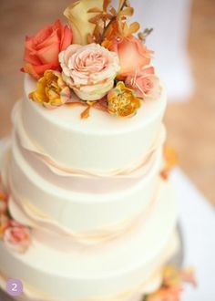 Wedding Themes | Autumn Wedding Ideas.  I love the gentle ruffles.  Soft, but not excessively girly.