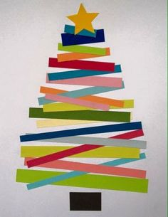 Paper lines Christmas tree