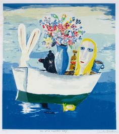 Charles Blackman ~ All on a Summers Day,c.1990