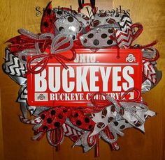 Hey, I found this really awesome Etsy listing at https://www.etsy.com/listing/196130112/ohio-state-buckeyes-mesh-wreath-screen