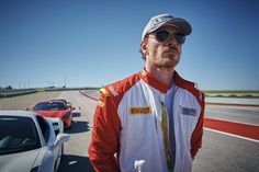 Michael Fassbender photographed by Charlie Gray, for 'The Official Ferrari Magazine' at Circuit of the Americas in Austin, Texas-USA 2017