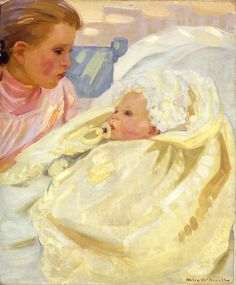 Helen McNicoll, Study of a Child, c. 1900, oil on canvas, 61 x 50.8 cm, Montreal Museum of Fine Arts. #ArtCanInstitute #CanadianArt