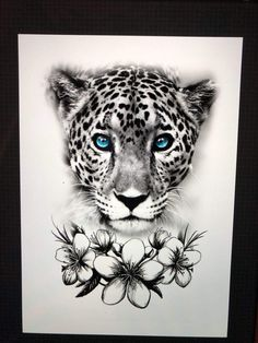 Zeichnungen - Zeichnungen You are in the right place about diy clothes Here we offer you the most beautiful pictu - Leopard Tattoos, Snow Leopard Tattoo, Animal Tattoos, Leg Tattoos, Body Art Tattoos, Print Tattoos, Sleeve Tattoos, Tattoo Ink, Arm Tattoo
