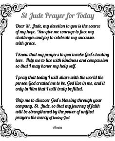 This is a variation of the St Jude prayer that focuses on the here and now. Pray more today! St Jude Prayer, Prayer For Love, Prayer For Today, Faith Prayer, My Prayer, St Judas, Novena Prayers, Catholic Prayers Daily, Catholic Quotes