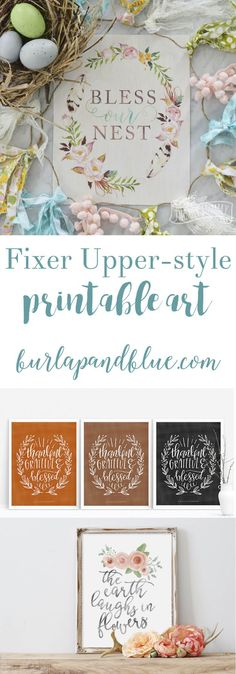 If you love the rustic, farmhouse style of Fixer Upper, you won't want to miss this collection of free printable art! Lots of wall decor ideas!