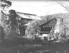 PLATE I. Walker Sisters House. One of the finest examples of Great Smoky Mountain log construction.
