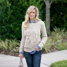 Knit & chambray layering today on adaydreamlove.com #newpost #ontheblog