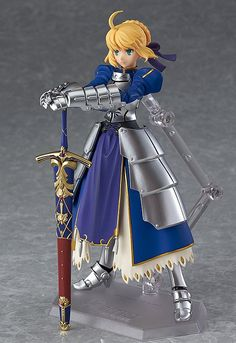 Good Smile Fate/Stay Night: Saber Figma Action Figure From Max Factory. From Fate/stay night comes an upgraded version of the ultimate servant, figma, Saber Action Figures Anime, 3d Figures, Fate Zero, Fate Stay Night セイバー, Fate/stay Night, 3 Gif, Dc Anime, Anime Nerd, Otaku