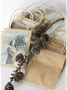 Use the cards to make your own personalized gift bags!!!  Some Fantastic Ideas for Recycling Christmas Cards