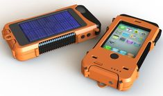 Solar powered iphone case (ugly, but useful)