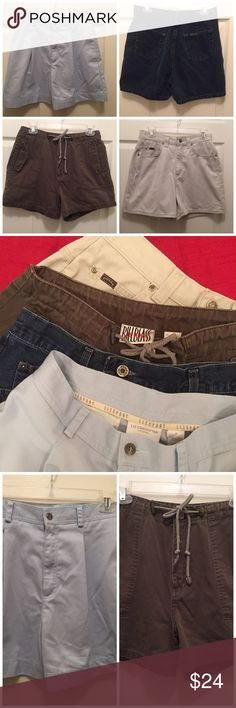 ❗️SUMMER SHORTS BLOWOUT❗️Lot of 4 Great brand names, unbeatable price ($6 each - in the bundle only!). Neutral colors to go with anything! LEE RIDERS, BILL BLASS, LIZ CLAIBORNE SPORT, and RIVETED BY LEE. Lot of 4, all size 10. Numerous (see pics) Shorts