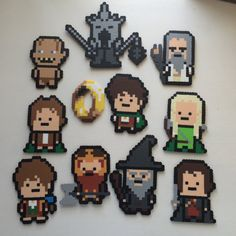 Lord of the Rings pixel magnet set 11 pieces by Beardian on Etsy