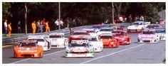 (55) Manfred Winkelhock - Ford Capri Turbo - Liqui Moly Equipe - (52) Bob Wollek - Porsche 935K4 - Jägermeister Kremer - (51) Hans-Joachim Stuck - BMW M1 Turbo - Team Schnitzer - (66) Jochen Mass - Porsche 935J - Joest-Racing - (57) Nelson Piquet - BMW M1 - BASF Cassetten/Team GS-Sport - (70) Gianpiero Moretti - Porsche 935/78-81 - Momo - 200 Meilen von Nürnberg - DRM Norisring - 1981 Deutsche Rennsport Meisterschaft, round 7 - Deutsche Automobil-Rennsport-Trophäe, round 7 - © Karsten…