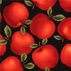 black apples fabric by Timeless Treasures USA