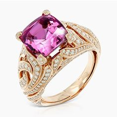 MAGENTA MOGOK SPINEL & DIAMOND RING