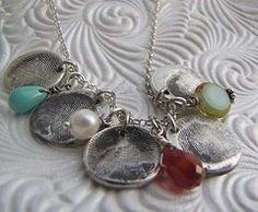 DIY Fingerprint Jewelry | Shabby Chic Designs Hand Stamped ...Fingerprint Necklace w/ Wire ...