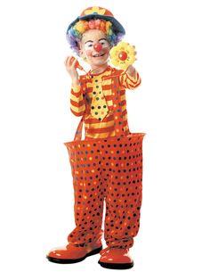 Dit clown kostuum met hoepel voor kinderen zal perfect zijn als carnavalskleding voor een circus themafeest! - Nu verkrijgbaar op Vegaoo.nl