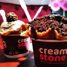 For the love of ice creams... The best place for icecream lovers... #creamstone #icecream #foodie #deserts