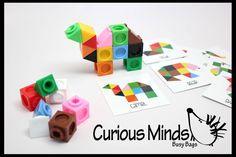 Build Animals Busy Bag Tangram Blocks and por CuriousMindsBusyBags